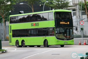 Bus 91 - SBS Transit Volvo B9TL CDGE (SBS7327M)