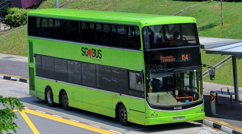 Bus 154 - SBS Transit Volvo B9TL CDGE (SBS7331A)