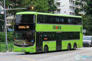 Bus 166 - SBS Transit Volvo B9TL CDGE (SBS7345K)