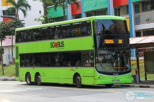 Bus 30 - SBS Transit Volvo B9TL CDGE (SBS7398H)