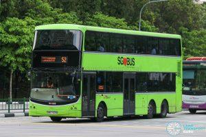 Bus 52 - SBS Transit Volvo B9TL CDGE (SBS7425M)