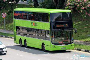 Bus 21 - SBS Transit Volvo B9TL CDGE (SBS7442M)