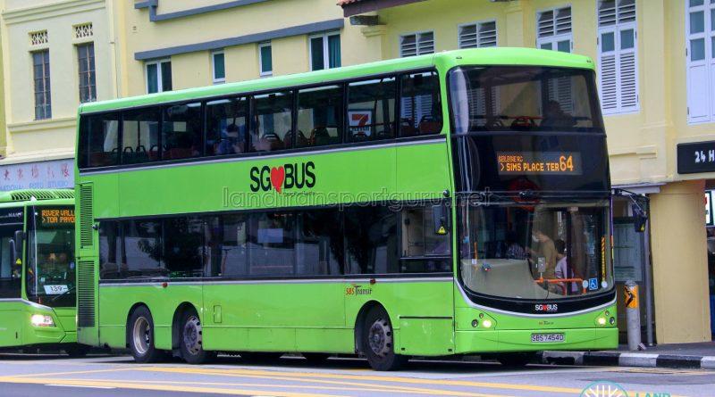 Bus 64 - SBS Transit Volvo B9TL CDGE (SBS7454D)