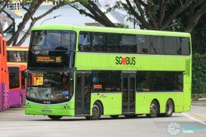Bus 95 - SBS Transit Volvo B9TL CDGE (SBS7455B)
