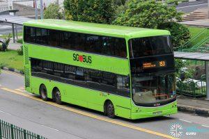 Bus 153 - SBS Transit Volvo B9TL CDGE (SBS7467S)