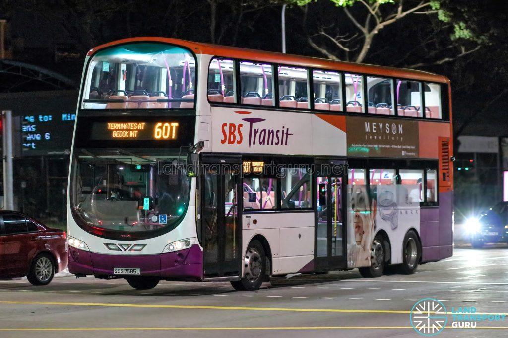 Bus 60T - SBS Transit Volvo B9TL Wright (SBS7585J)