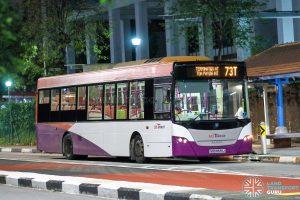 Bus 73T - SBS Transit Scania K230UB Euro V (SBS8591J)