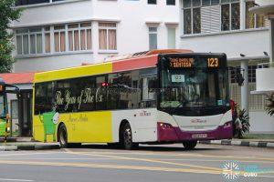 Bus 123 - SBS Transit Scania K230UB Euro V (SBS8747C)