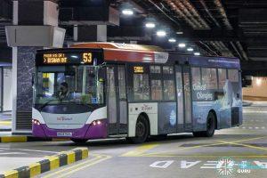 Bus 53 - SBS Transit Scania K230UB Euro V (SBS8752L)