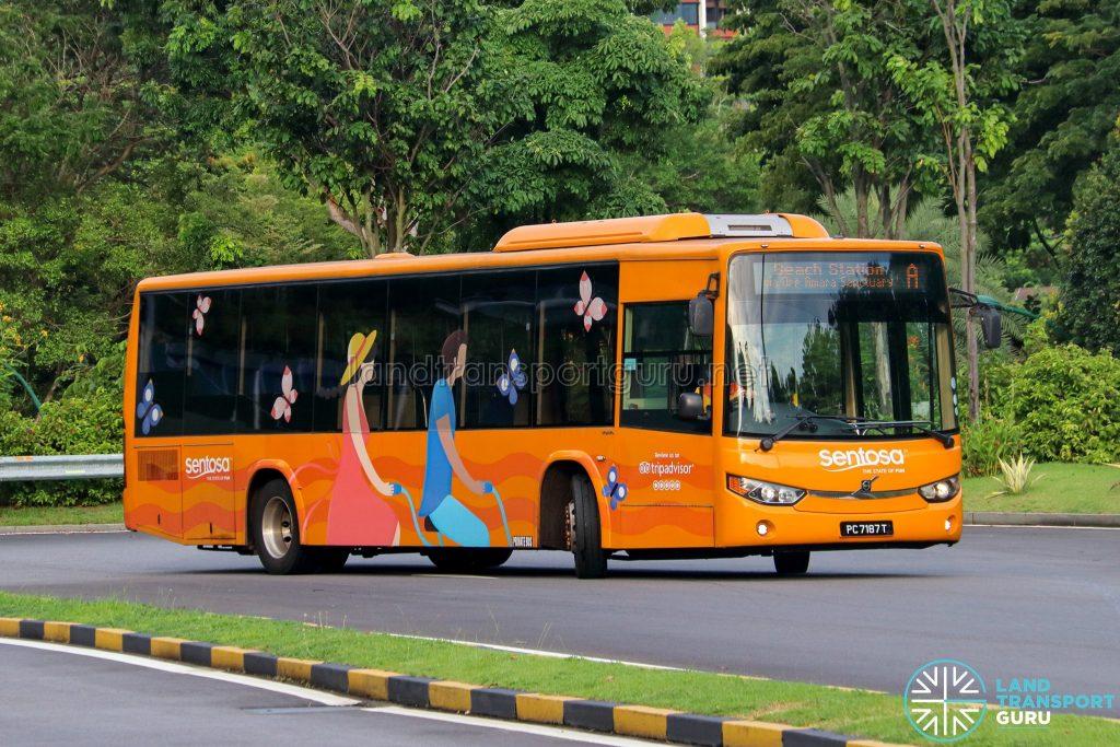 Sentosa Development Corporation Volvo B8RLE (PC7187T) - Sentosa Bus A