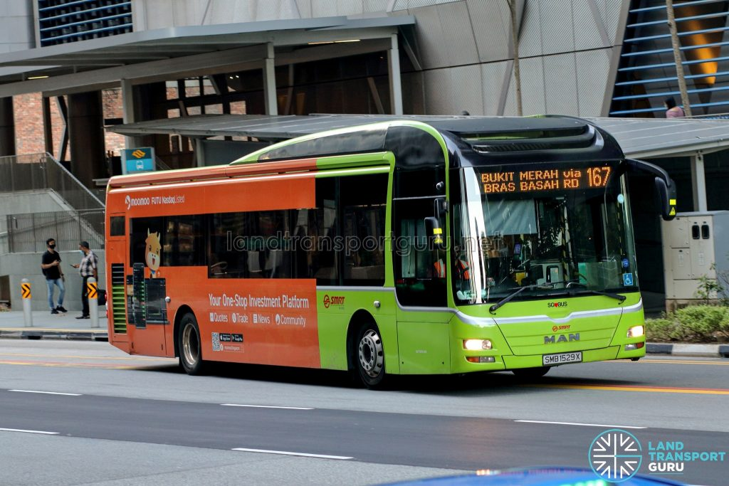 Bus 167 - SMRT Buses MAN A22 (SMB1529X)