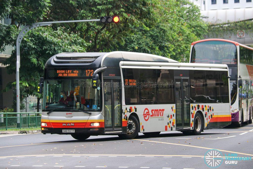 Bus 172 - SMRT Buses MAN A22 (SMB1557P)