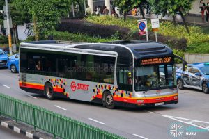 Bus 307 - SMRT Buses MAN A22 (SMB1583M)