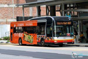 City Direct 657 - SMRT Buses MAN A22 (SMB1587C)