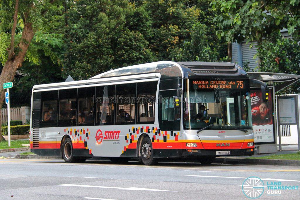 Bus 75 - SMRT Buses MAN A22 (SMB1596B)