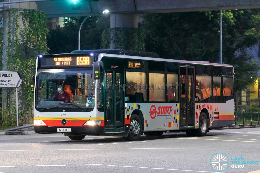 Bus 859A - SMRT Buses Mercedes-Benz Citaro (SG1691L)