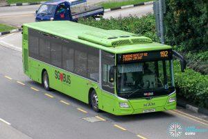 Bus 192 - SBS Transit MAN A22 Euro 6 (SG1765H)