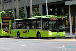 Bus 70 - SBS Transit MAN A22 Euro 6 (SG1812E)