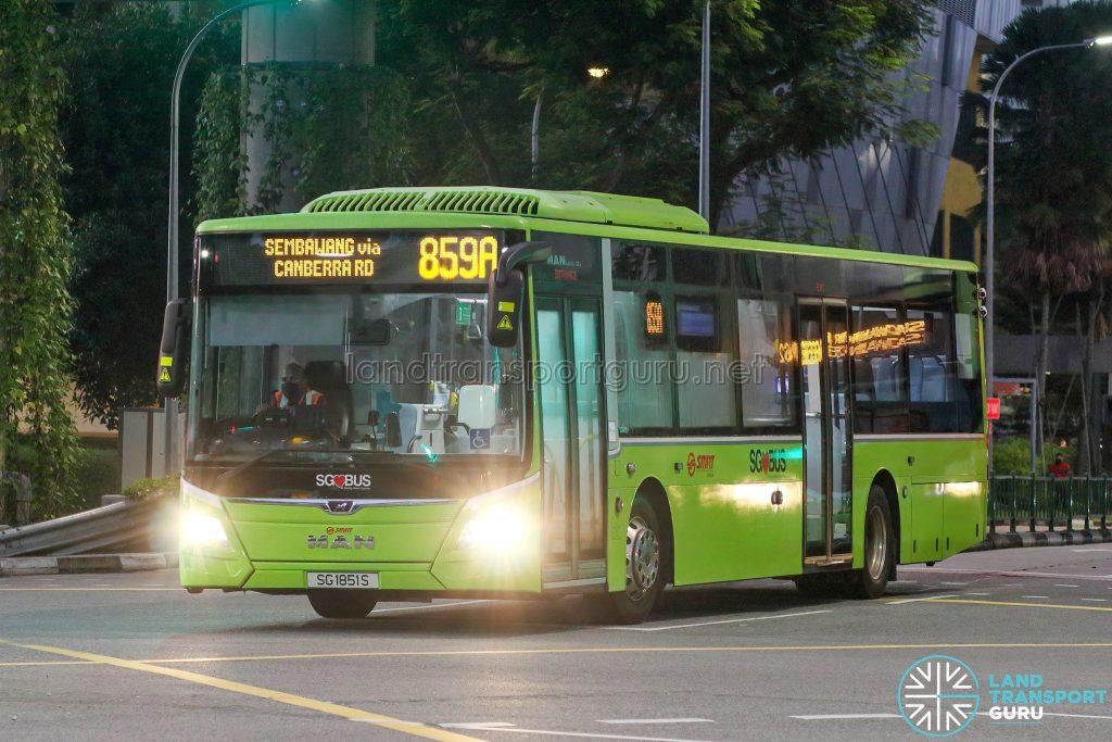 Bus 859A - SMRT Buses MAN A22 Euro 6 (SG1851S)