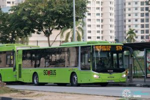Bus 974 - SBS Transit MAN A22 Euro 6 (SG1889J)