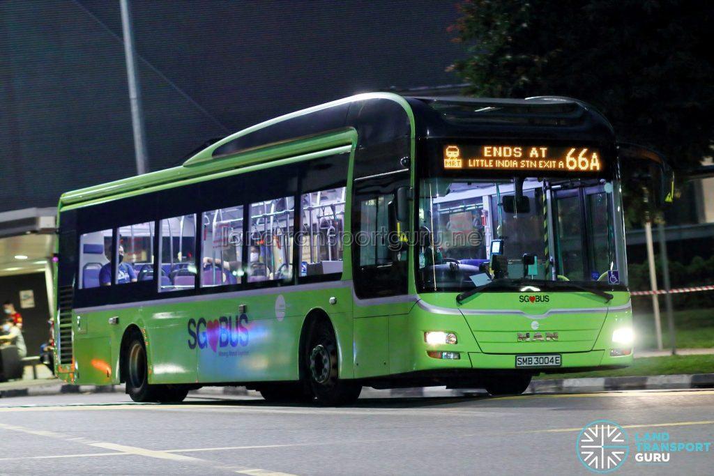 Bus 66A - Tower Transit MAN A22 (SMB3004E)