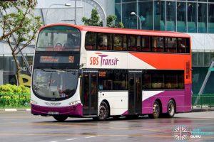 Bus 51 - SBS Transit Volvo B9TL Wright (SBS3014S)