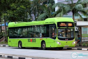 Bus 859 - SMRT Buses Volvo B5LH (SG3032B)