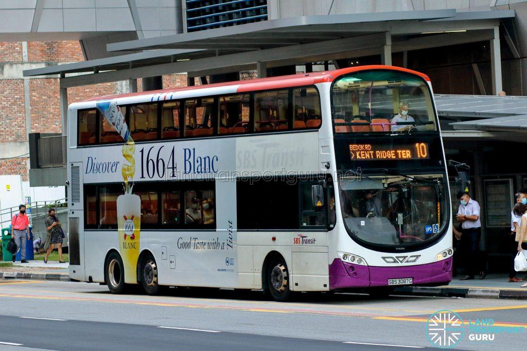 Bus 10 - SBS Transit Volvo B9TL Wright (SBS3087G)