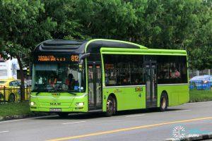 Bus 812 - SBS Transit MAN A22 (SMB3130Z)