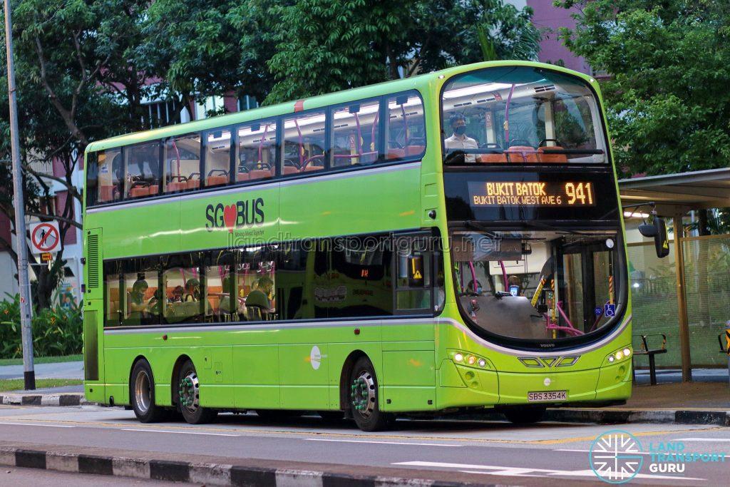 Bus 941 - Tower Transit Volvo B9TL Wright (SBS3354K)