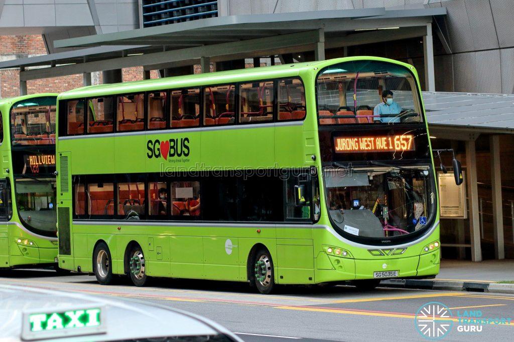 City Direct 657 - Tower Transit Volvo B9TL Wright (SG5035E)