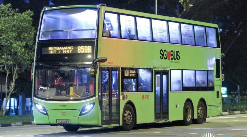 Bus 859B - SMRT Buses Alexander Dennis Enviro500 (SG5703K)