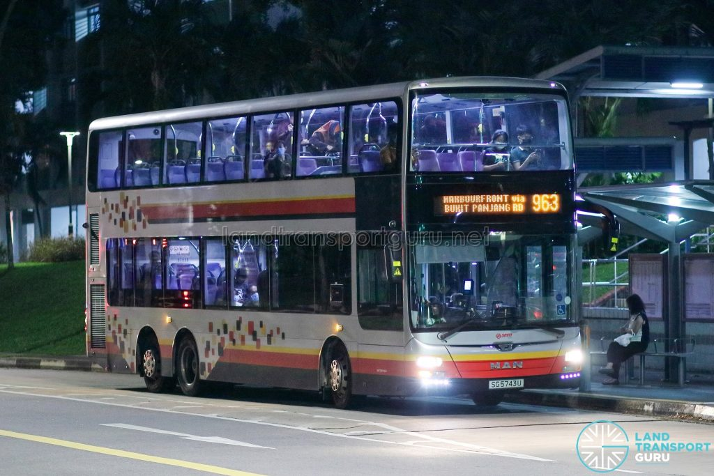 Bus 963 - SMRT Buses MAN A95 (SG5743U)