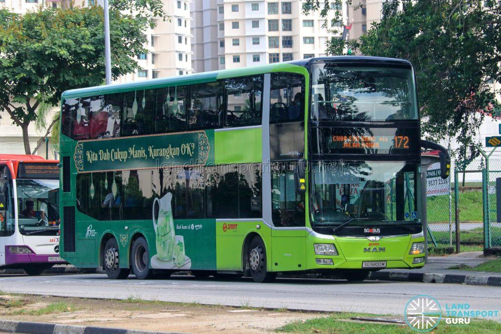 Bus 172 - SMRT Buses MAN A95 (SG5800M)