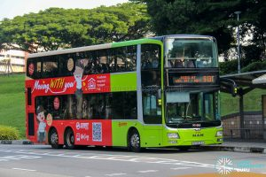 Bus 913T - SMRT Buses MAN A95 (SG5828J) [WITH Advertisement Wrap]