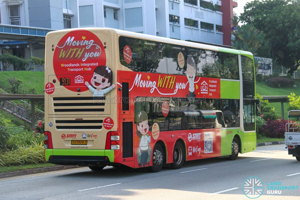 SMRT Buses - Moving WITH You - Woodlands Integrated Transport Hub Bus Wrap