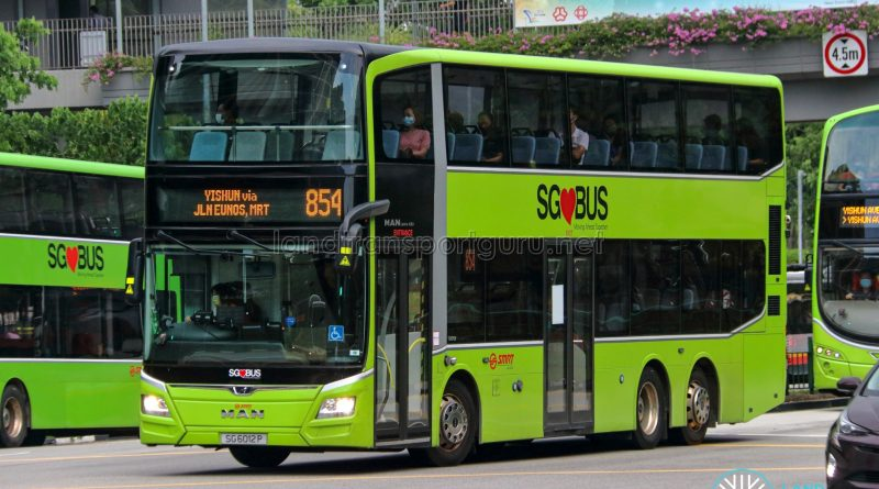 Bus 854 - SMRT Buses MAN A95 Euro 6 (SG6012P)