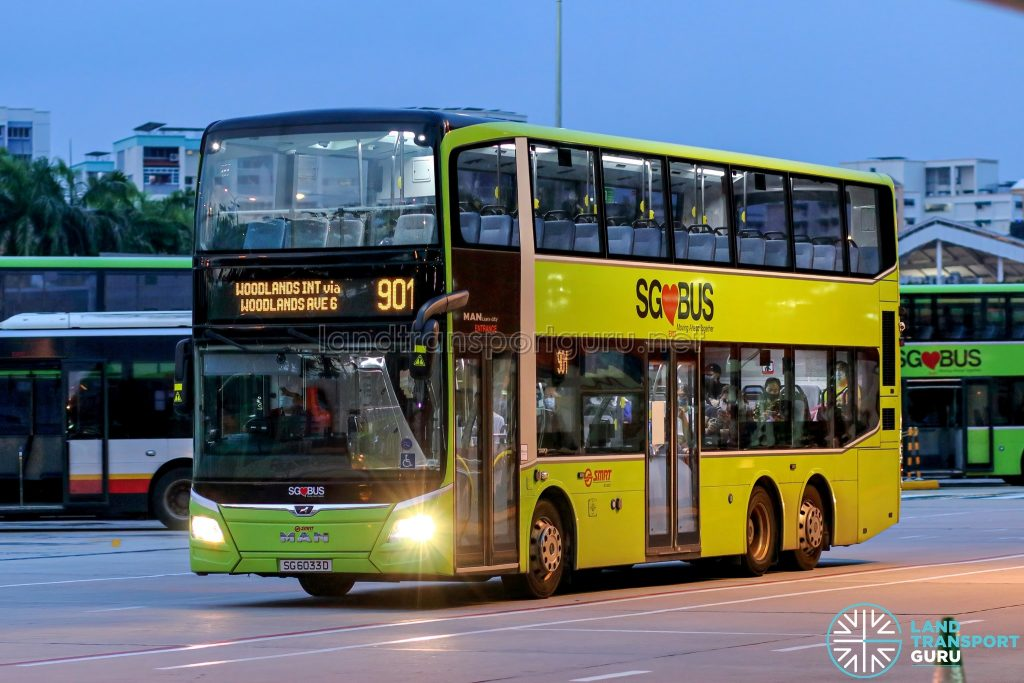 Bus 901 - SMRT Buses MAN A95 Euro 6 (SG6033D)
