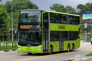 Bus 117 - SBS Transit MAN A95 Euro 6 (SG6043A)