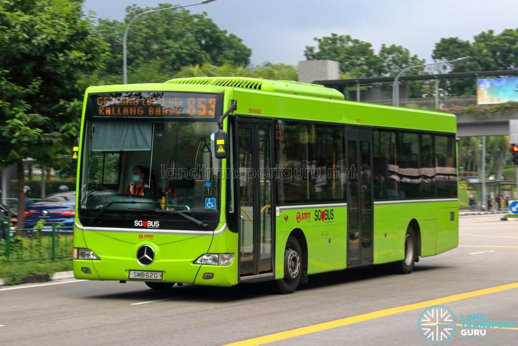 Bus 853 - SMRT Buses Mercedes-Benz OC500LE (SMB62G)