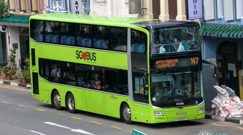 Bus 147 - SBS Transit MAN A95 Euro 6 (SG6251R)
