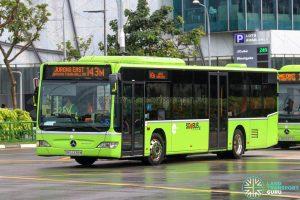 Bus 143M - Tower Transit Mercedes-Benz Citaro (SBS6338M)