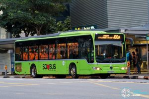 Bus 66A - Tower Transit Mercedes-Benz Citaro (SBS6364L)