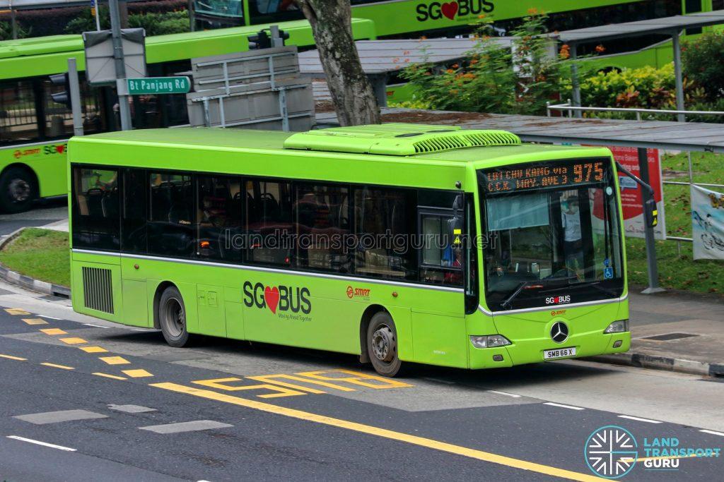 Bus 975 - SMRT Buses Mercedes-Benz OC500LE (SMB66X)