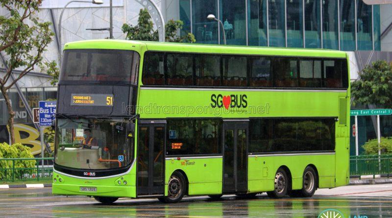 Bus 51 - SBS Transit Volvo B9TL CDGE (SBS7312E)