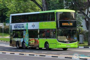 Bus 95 - SBS Transit Volvo B9TL CDGE (SBS7322B)