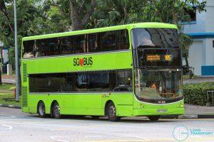 Bus 185 - SBS Transit Volvo B9TL CDGE (SBS7328K)