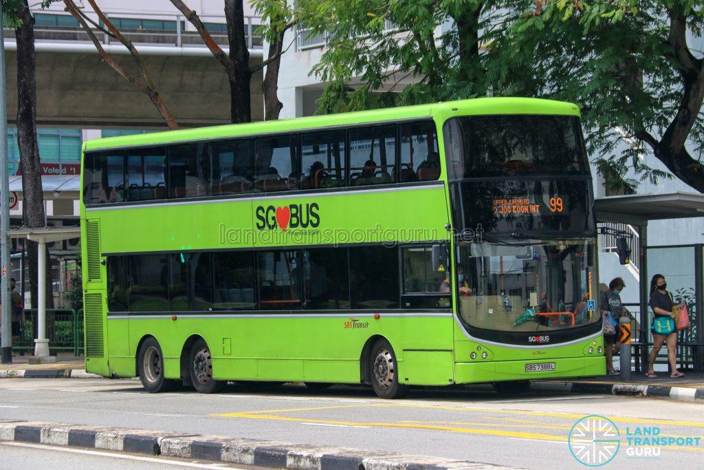 Bus 99 - SBS Transit Volvo B9TL CDGE (SBS7388L)