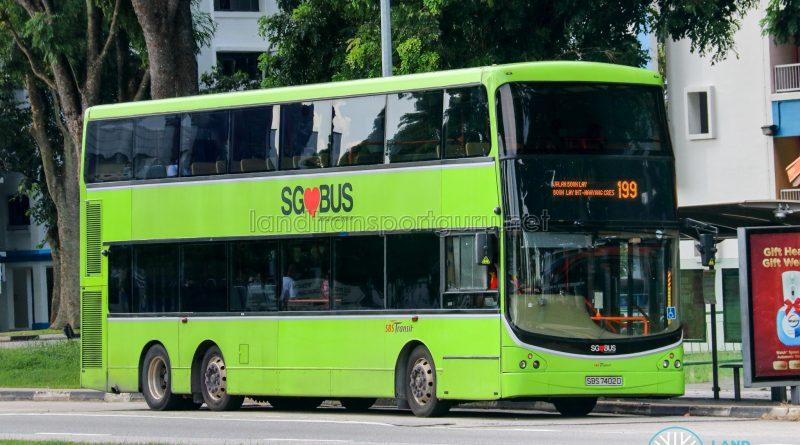 Bus 199 - SBS Transit Volvo B9TL CDGE (SBS7402D)