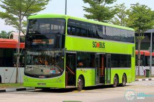 Bus 121 - SBS Transit Volvo B9TL CDGE (SBS7450P)